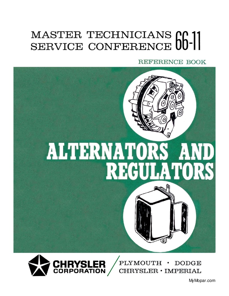 thumbnail of dodge-alternators-and-regulators-service-book