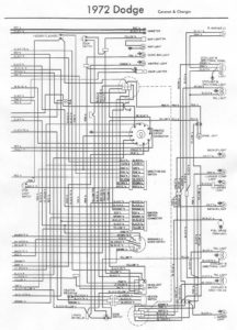 Stromlaufplan Dodge 1972/1973 Teil B